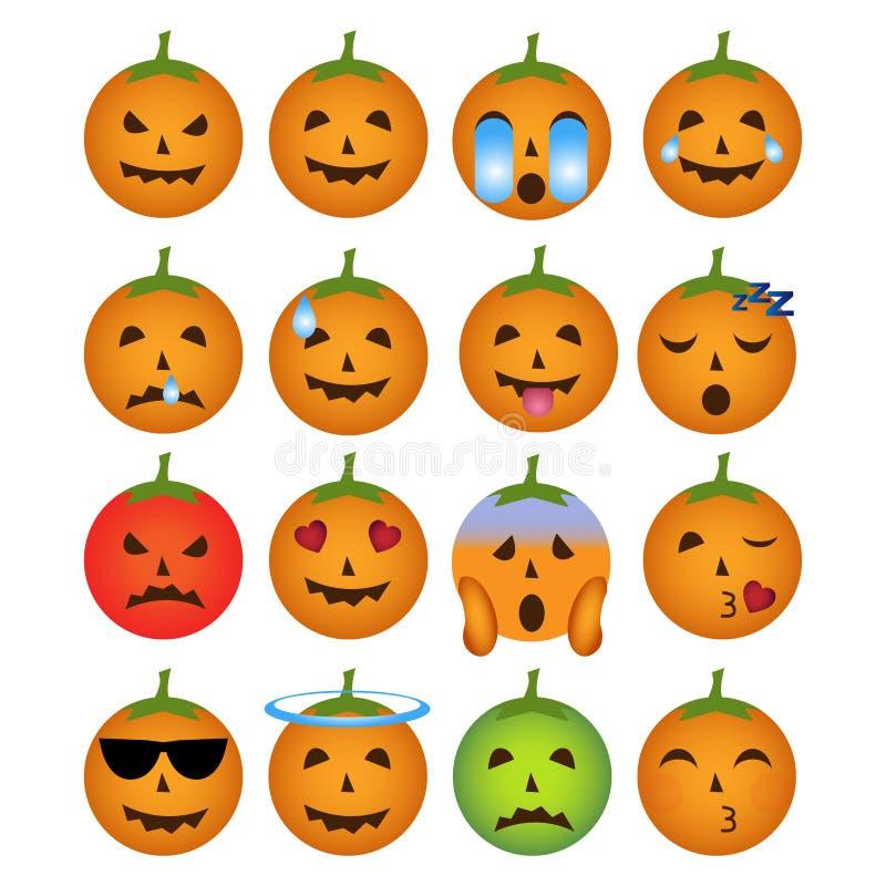 Halloween smiley icons royalty free stock image