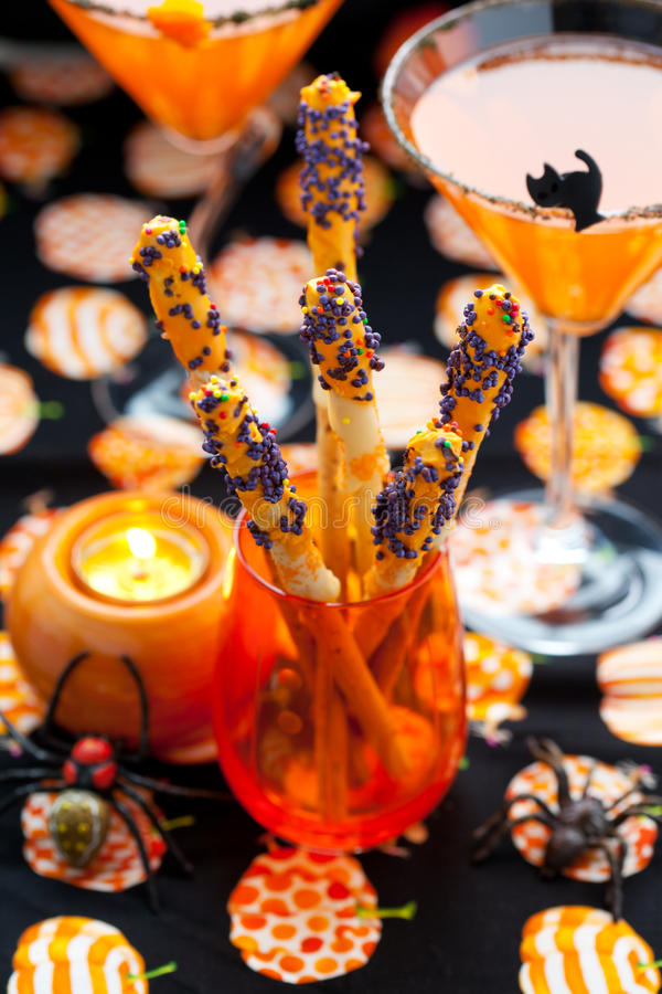 Halloween snack and drinks royalty free stock images