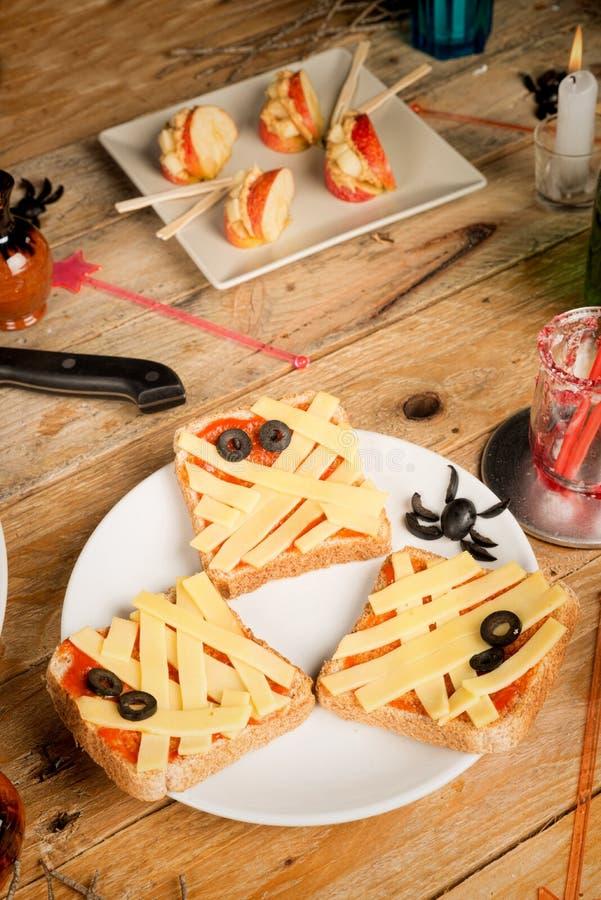 Halloween snacks still life royalty free stock photography