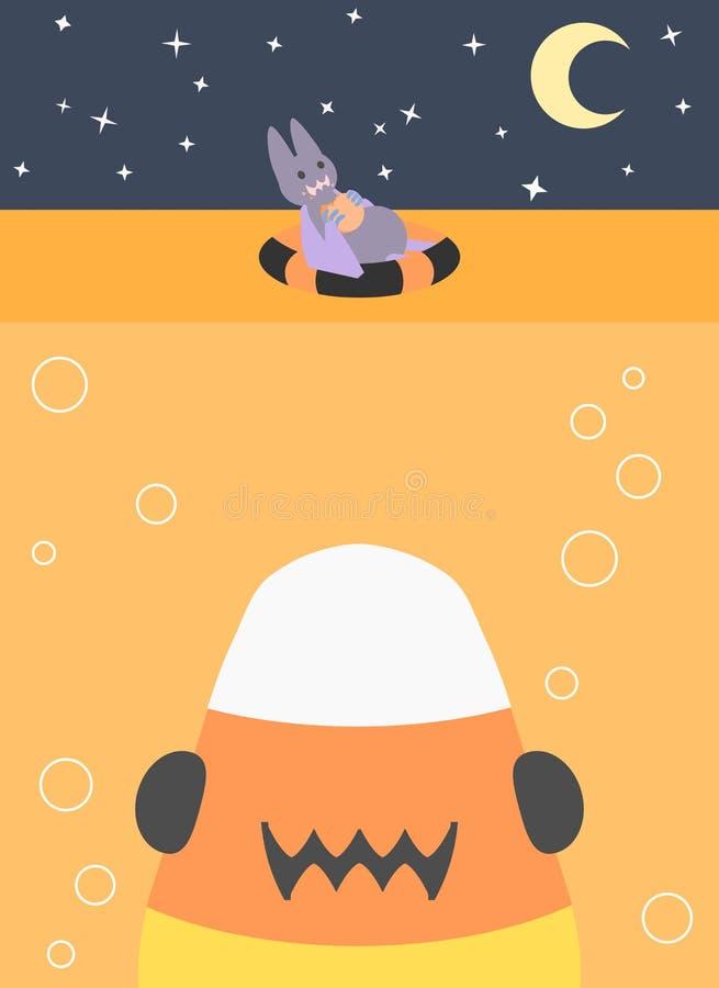 Halloween-Snacktijd royalty-vrije illustratie
