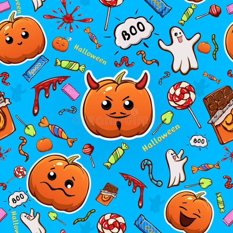 Halloween sourit fond avec des potirons illustration libre de droits