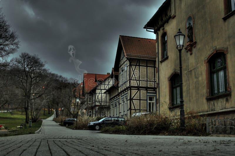 halloween Spöke i ett spökat hus i Tyskland royaltyfri fotografi