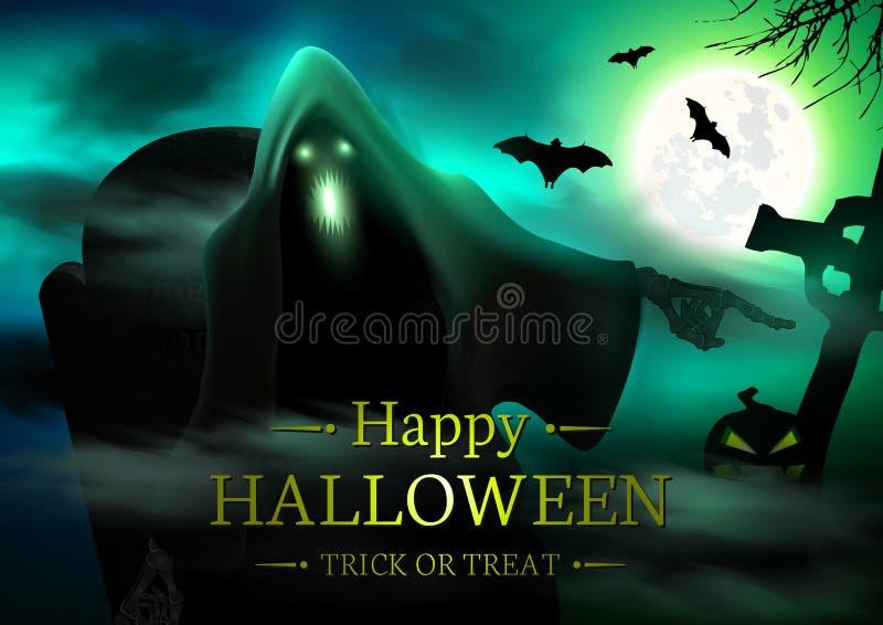 Halloween spöklik bakgrund arkivbilder