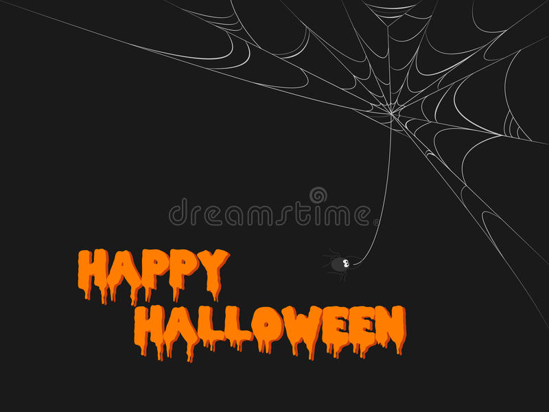 halloween spöklik rengöringsduk stock illustrationer