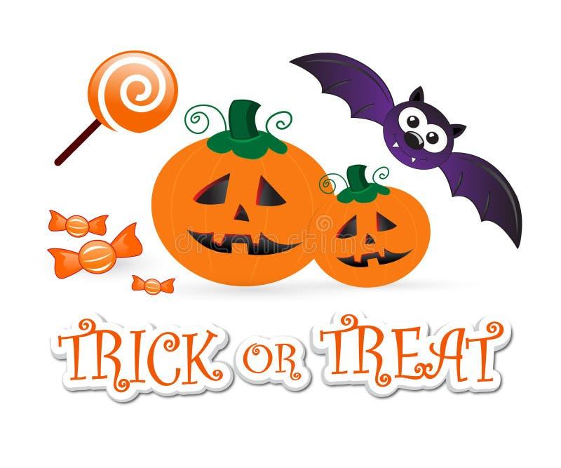 Halloween-Spaß: Trick oder Festlichkeit stock abbildung