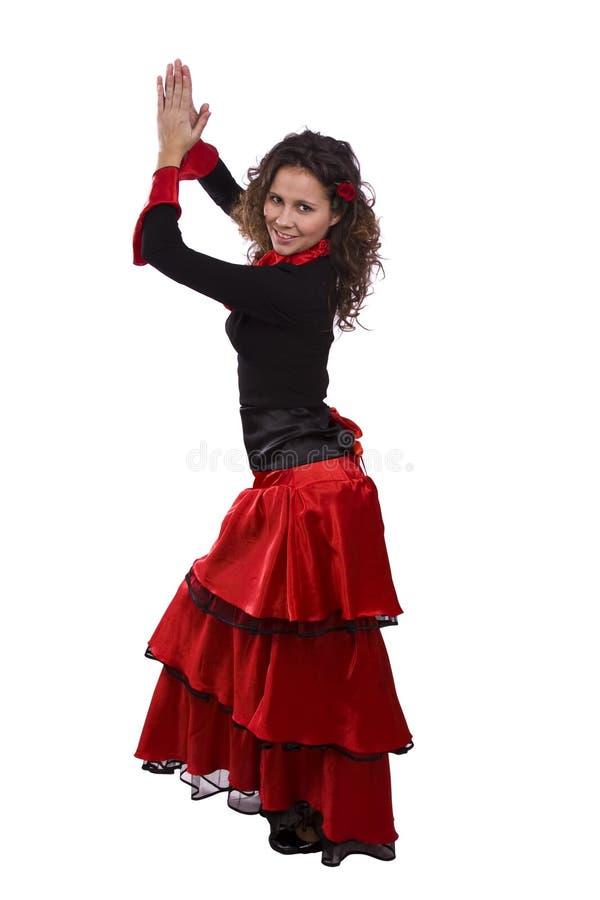 Halloween-Spanisch kostümiert Frau. lizenzfreie stockbilder