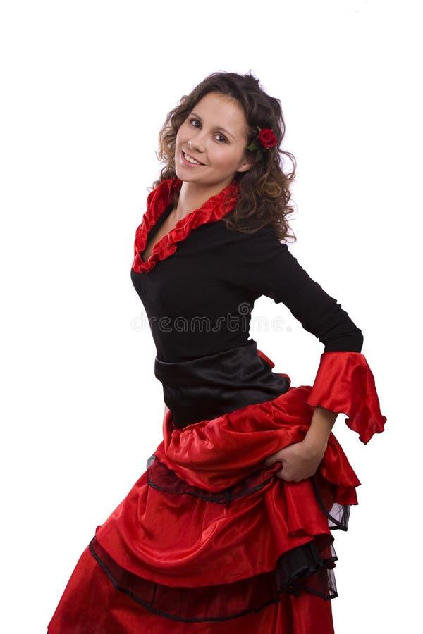 Halloween-Spanisch kostümiert Frau. stockbild