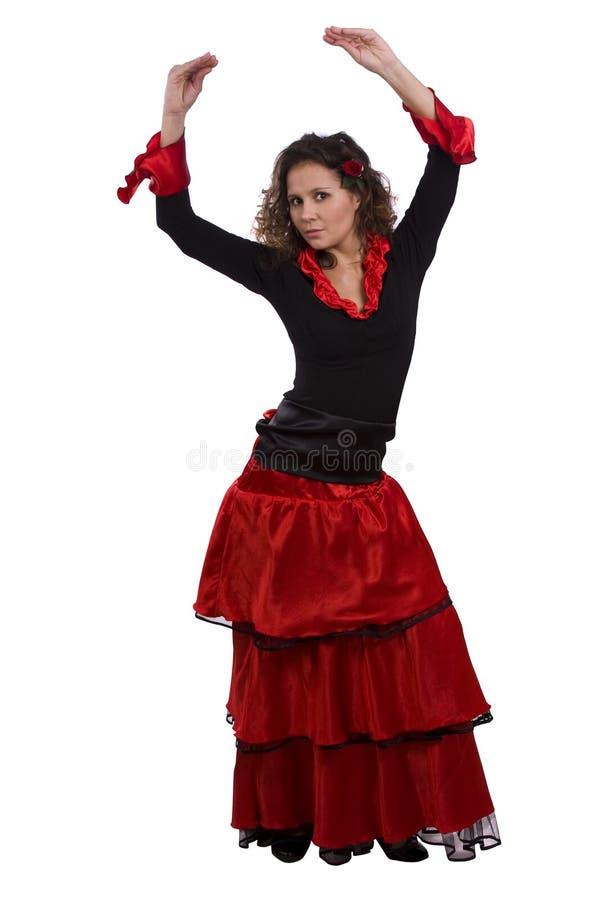 Halloween-Spanisch kostümiert Frau. stockbilder