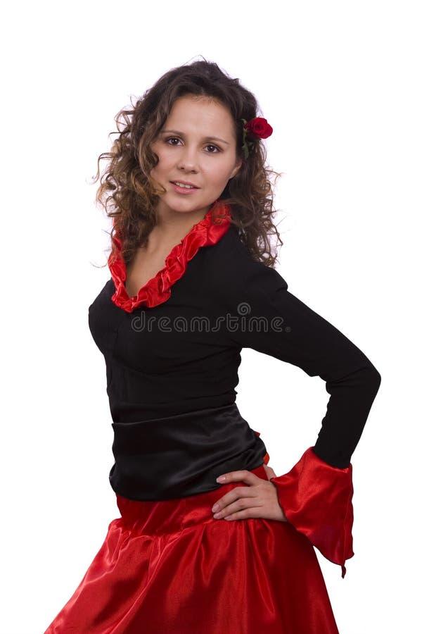Halloween-Spanisch kostümiert Frau. stockfotos