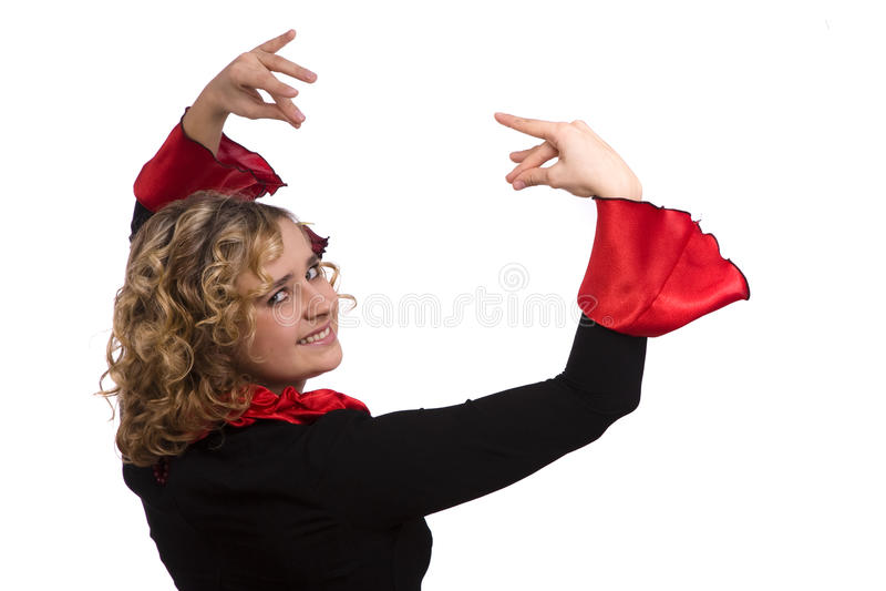 Halloween-Spanisch kostümiert Frau. stockfotografie