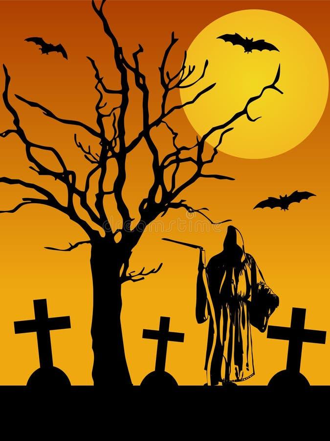 Halloween spaventoso illustrazione vettoriale