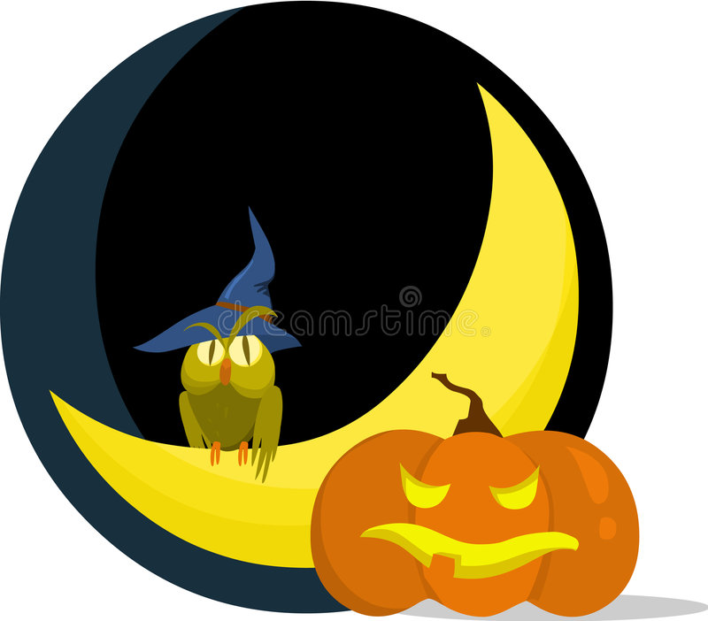 Halloween spaventoso illustrazione di stock