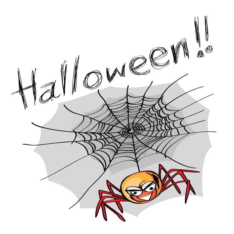 Halloween spider stock illustration