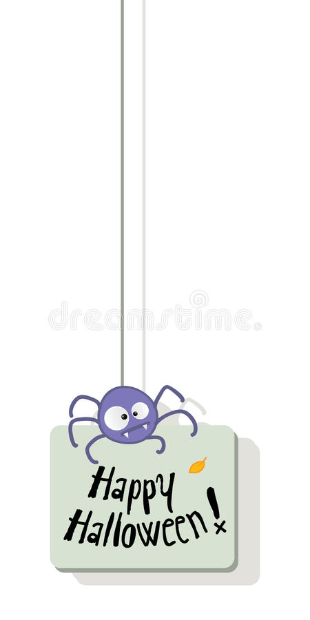 Download Halloween spider stock vector. Image of card, animal - 20776156