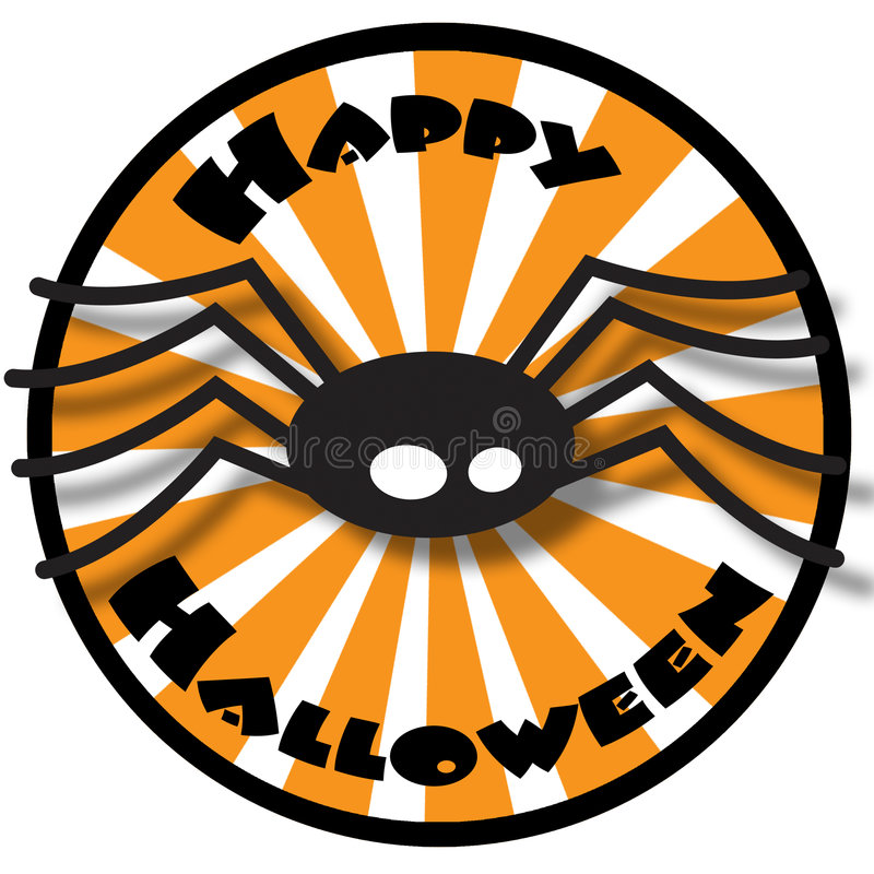 Download Halloween spider stock illustration. Image of isolated - 6826463