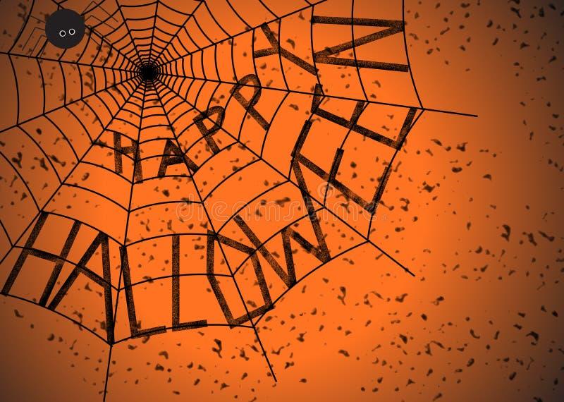 Halloween spider web royalty free stock photos