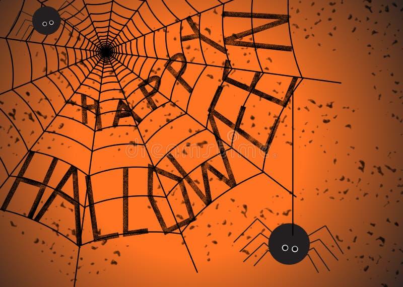 Halloween spider web stock image