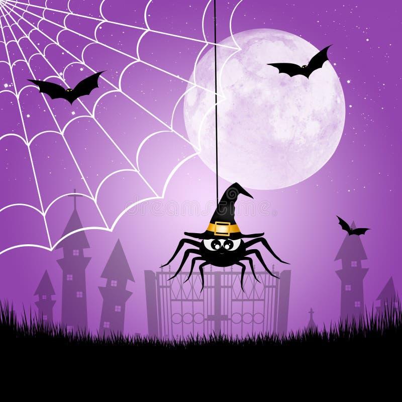 Halloween-Spinne lizenzfreie abbildung