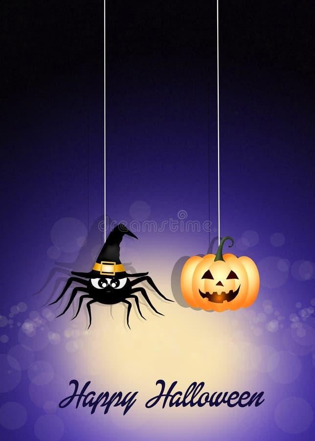 Halloween-Spinne vektor abbildung