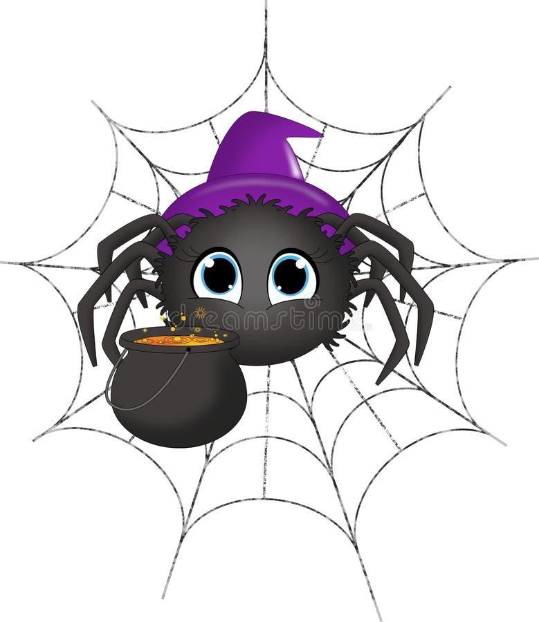 Halloween-Spinnen-Hexe stock abbildung. Illustration von saisonal ...