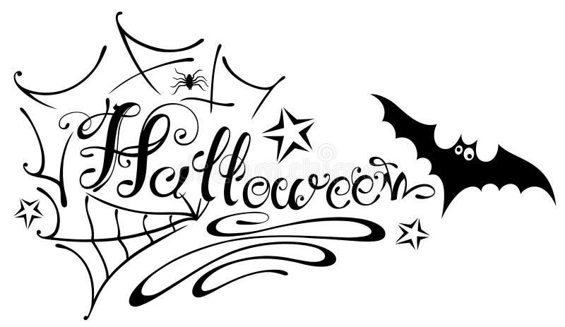 halloween spinnennetz vektor abbildung illustration von magie 45815946. Black Bedroom Furniture Sets. Home Design Ideas
