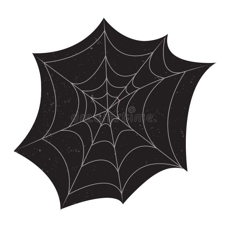 Halloween-Spinnennetz mit Schmutzbeschaffenheiten vektor abbildung