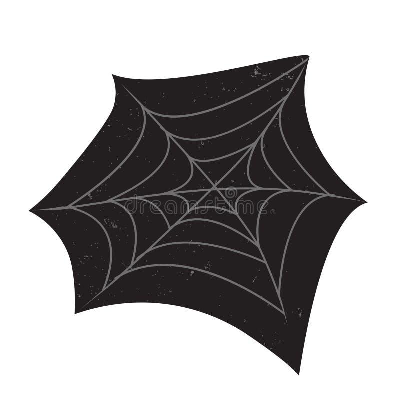 Halloween-Spinnennetz mit Schmutzbeschaffenheiten stock abbildung