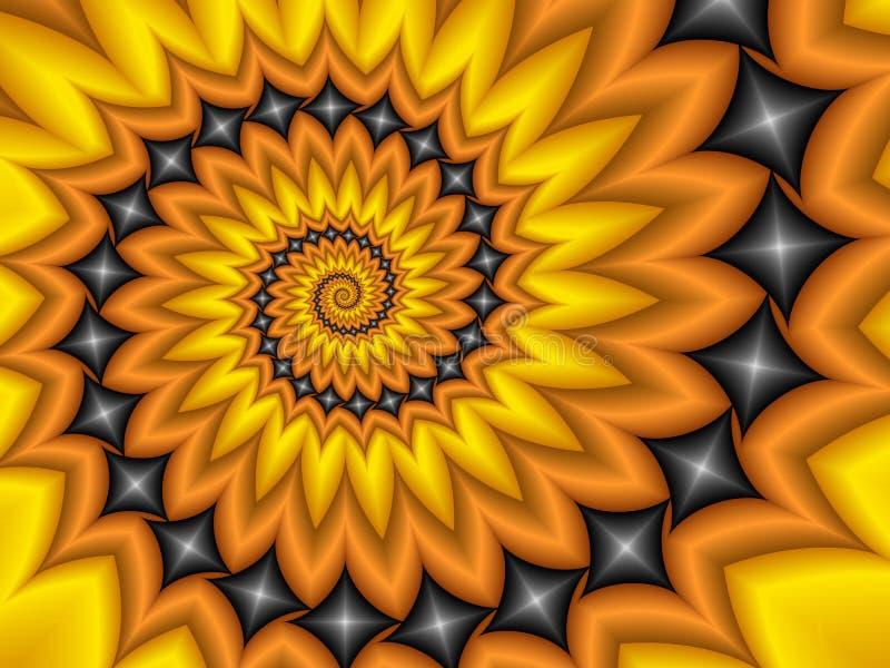 Halloween-Spirale stock abbildung