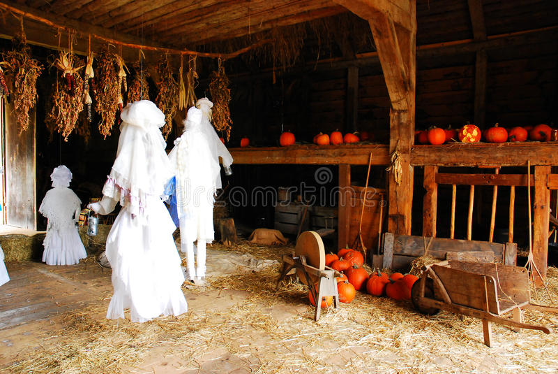 Halloween-Spookdans, royalty-vrije stock foto