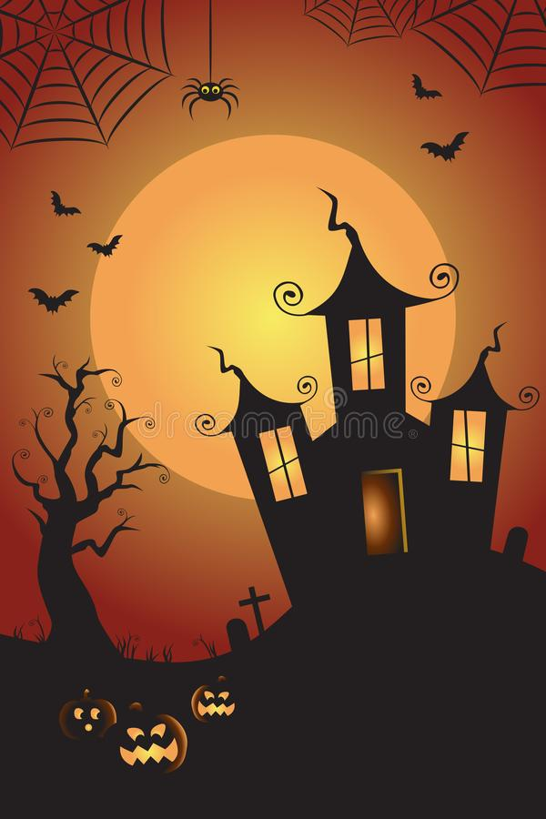 Free Halloween Spooky Nighttime Scene Vertical Background 1 Royalty Free Stock Photography - 101314797
