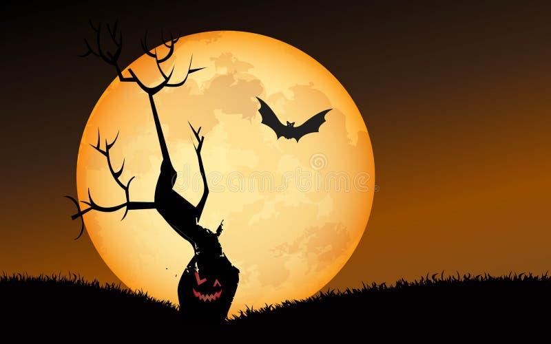 Halloween Spooky Tree stock illustration