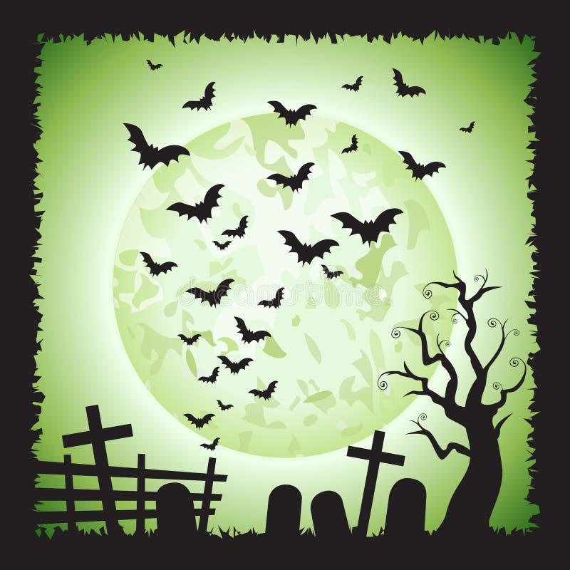 Free Halloween Square Green Bats Scene Background 1 Stock Photo - 101433710