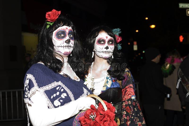 Halloween ståtar NYC royaltyfri fotografi
