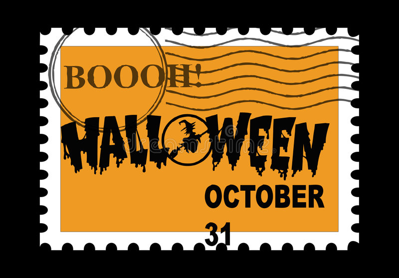 Halloween Stamp royalty free stock photography
