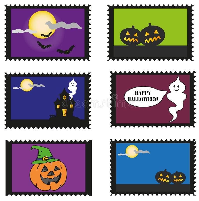 Halloween stamps stock photo