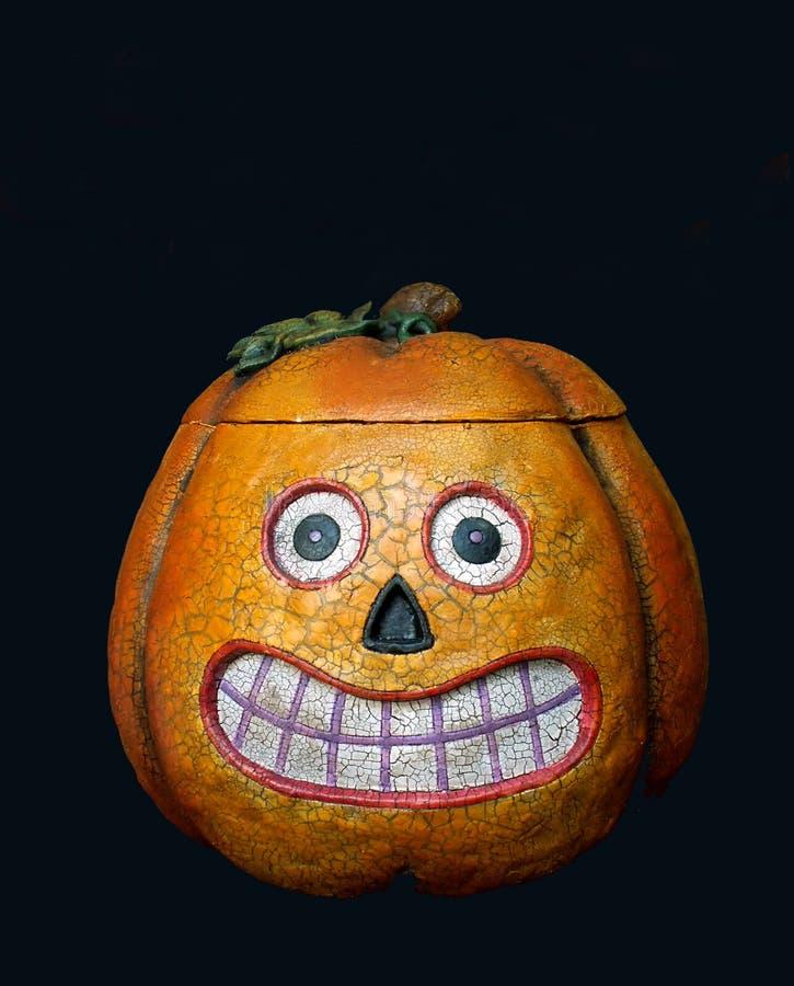 Halloween Steckfassung-Olaterne stockbilder