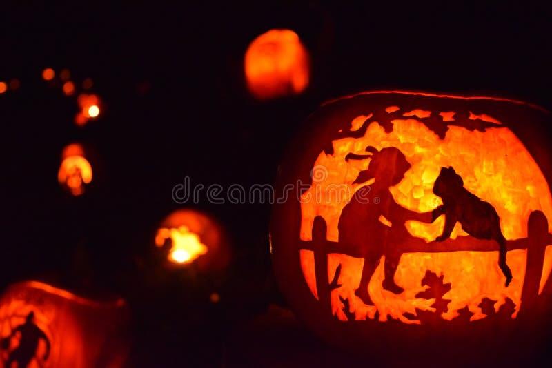 Halloween Steckfassung-Olaterne lizenzfreie stockfotografie
