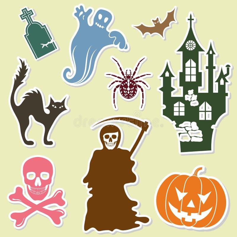 Download Halloween sticker stock vector. Image of season, dark - 20763030
