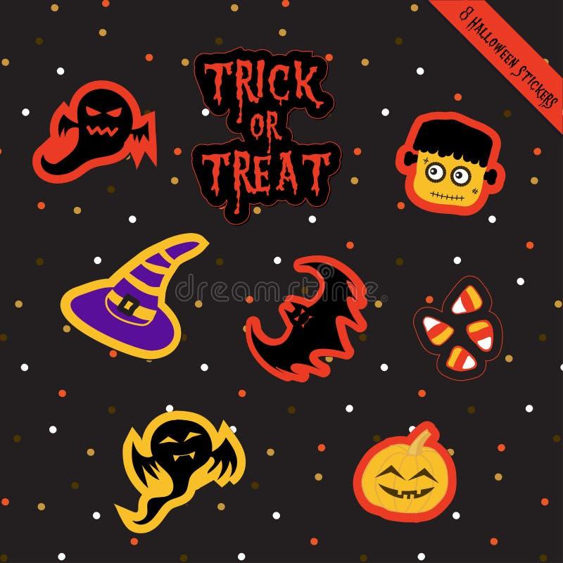 Halloween sticker-2 royalty-vrije illustratie