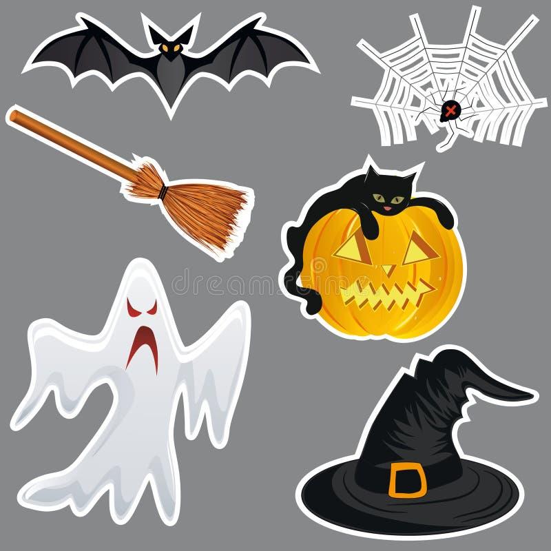 Halloween Stickers. Royalty Free Stock Photo