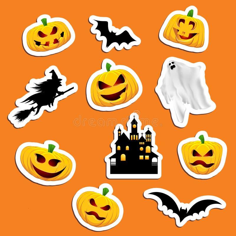 Download Halloween Stickers stock vector. Illustration of jack - 21295141