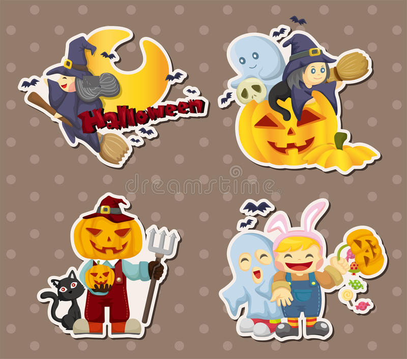 Halloween stickers stock images