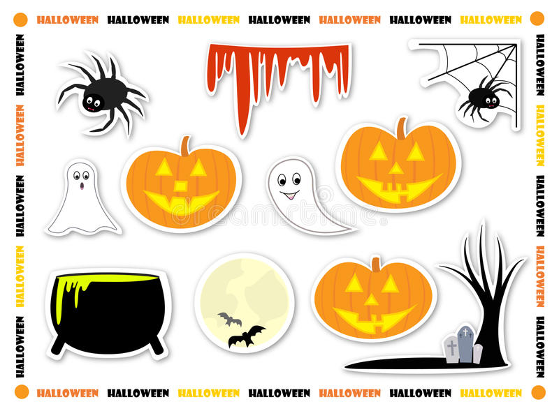 Download Halloween stickers stock vector. Illustration of scary - 26586963