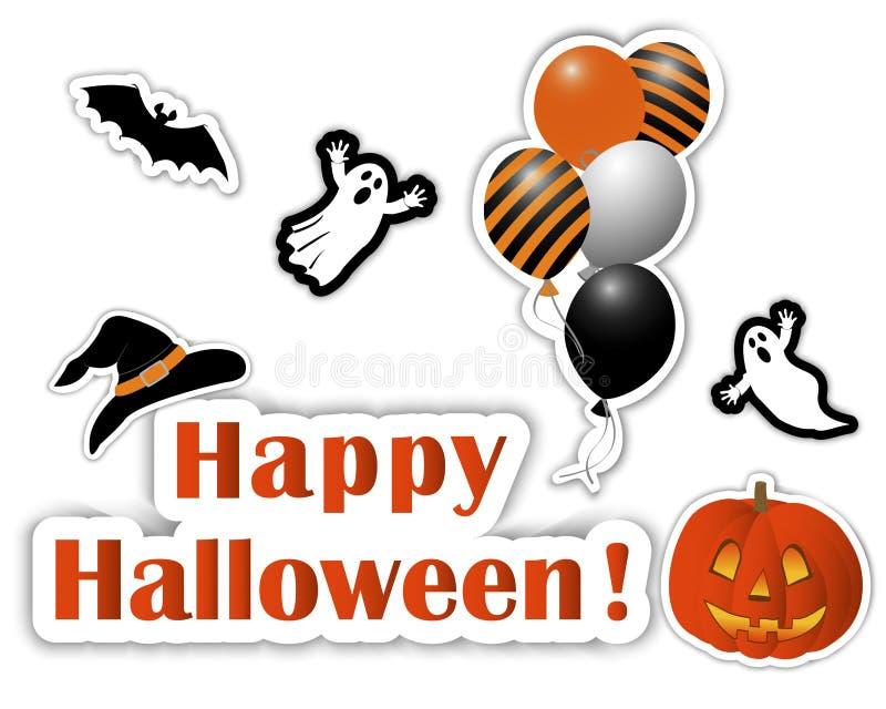 Halloween stickers. royalty free illustration
