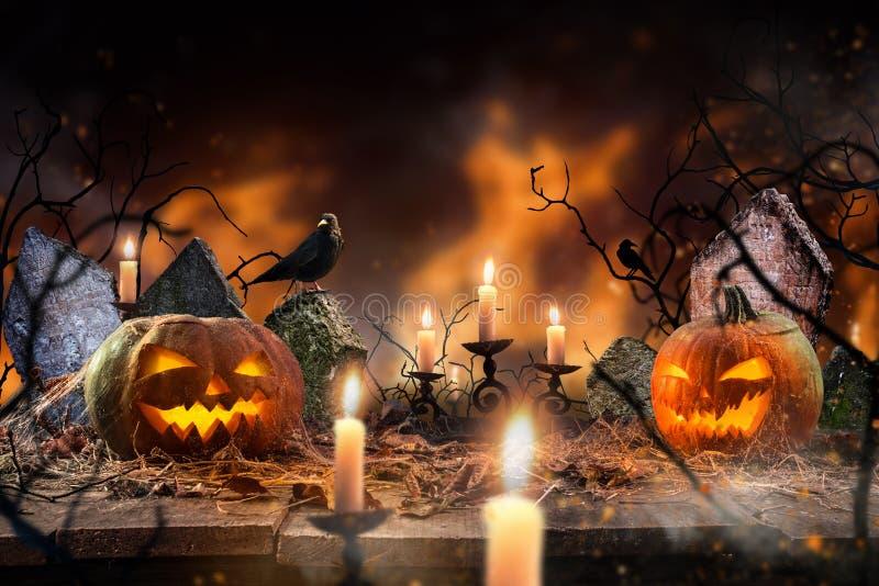 Halloween straszny tło obrazy royalty free