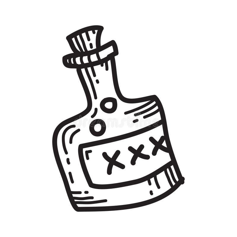 Free Halloween Stuff Poison Bottle Vector Illustration Stock Photos - 103048503