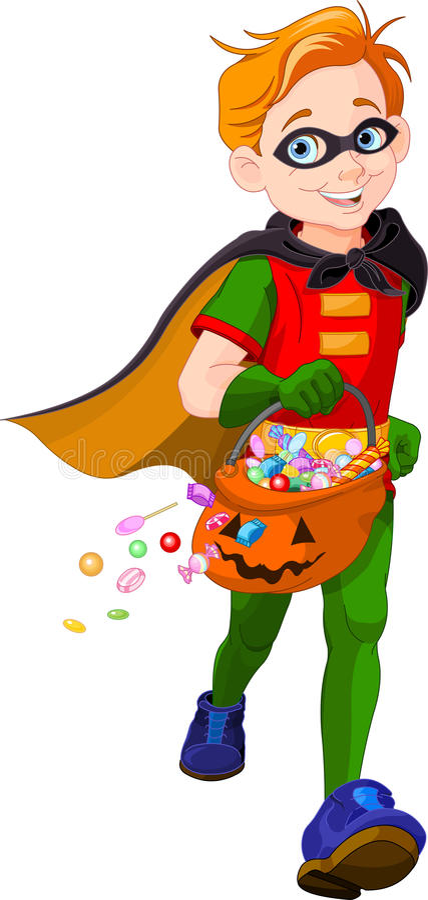 Halloween-Superjunge stock abbildung
