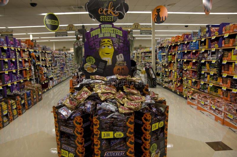Halloween in supermarket stock photo