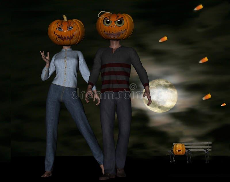 Halloween surréaliste illustration libre de droits