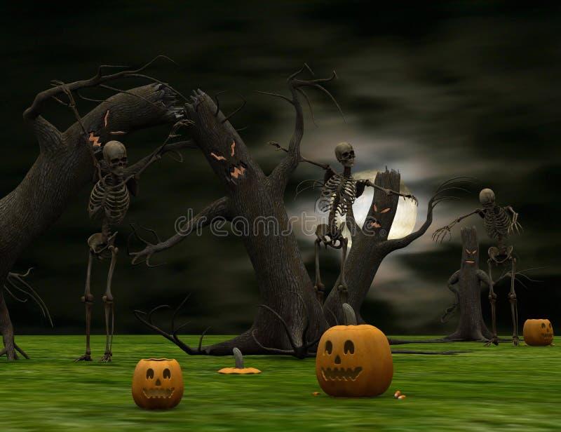 Halloween surreal stock abbildung